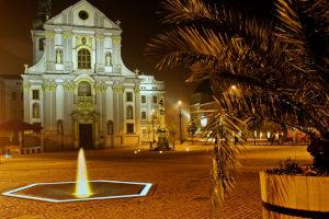 Nerezová fontána v Opavě v kooperaci