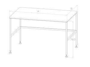 Nerezový pracovní stůl